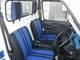 写真:キャリイデモカーに ブルーなシートカバー