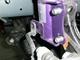 写真:車高調セットforスポーツ 直巻きスプリング交換作業